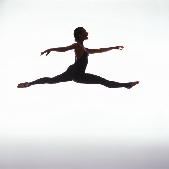 Dance leaps require strength and flexibility