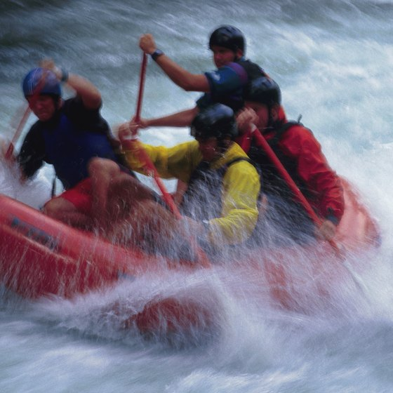 Thrill through rapids on a Letchworth State Park rafting adventure.