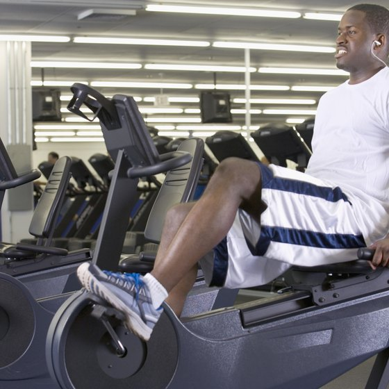 A recumbent bike supports your back during your workout.