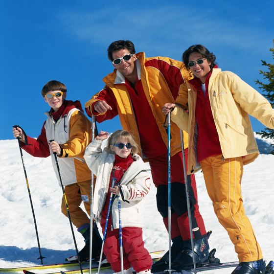 Angel Fire Resort caters to snow skiing families.