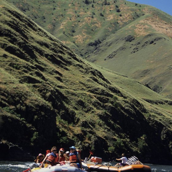 Rafters ward off the summer heat on a float trip down Hells Canyon.