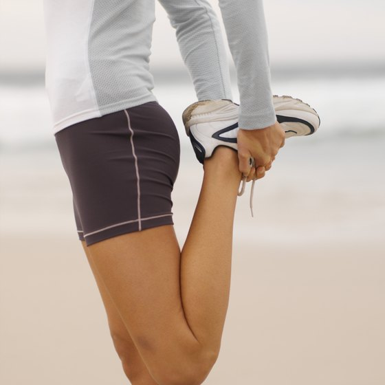 Stretching can reduce tightness in your quadriceps.