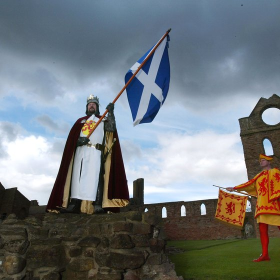See a historical reenactment at Arbroath Abbey during your trip.