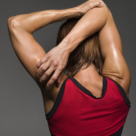 Stretching can help relieve soreness in the upper body.