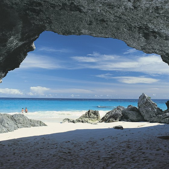 Several of Bermuda's beaches feature stunning rock formations in secluded cove areas.
