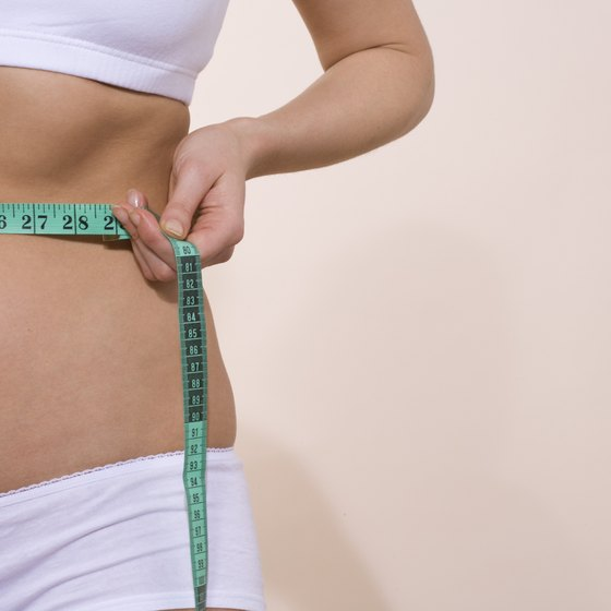 A waist measurement and scale gives a body fat estimate.