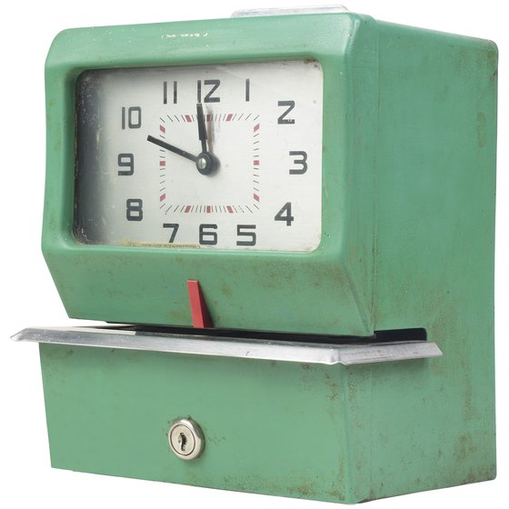 Punch clocks provide objective verification of employee hours.