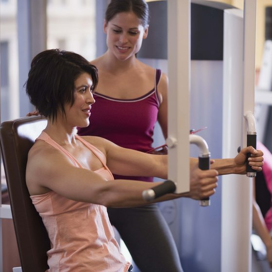 Inviting a friend to work out helps with easing back into the gym.