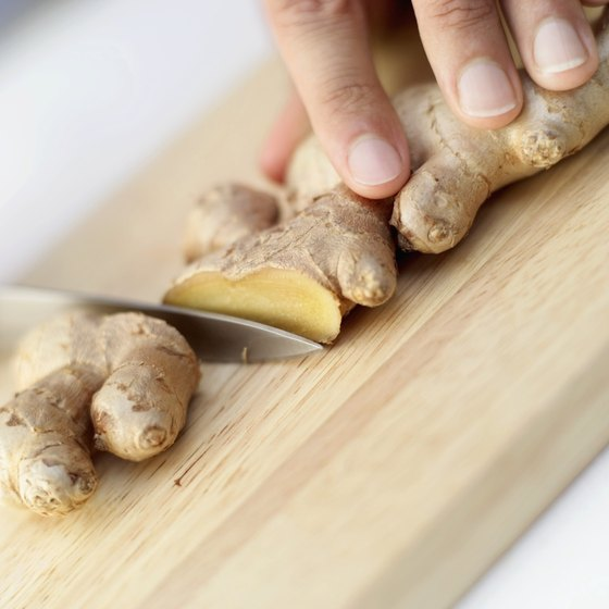 Ginger is high in antioxidants and calms your stomach.