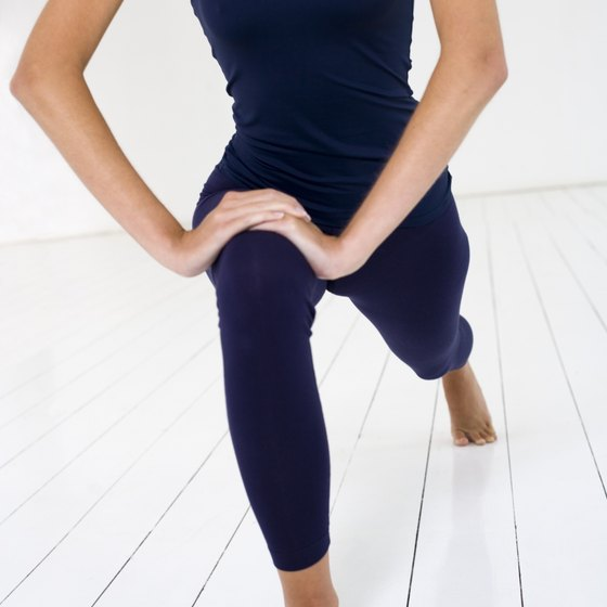 Lunges add muscular definition to skinny legs.