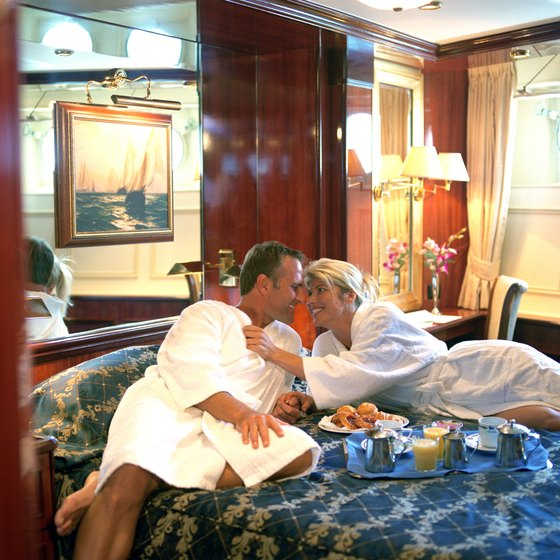 Cruise cabins range from economic to luxurious.