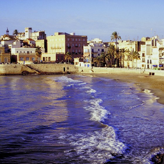 Sitges is one of the most popular beach towns south of Barcelona.