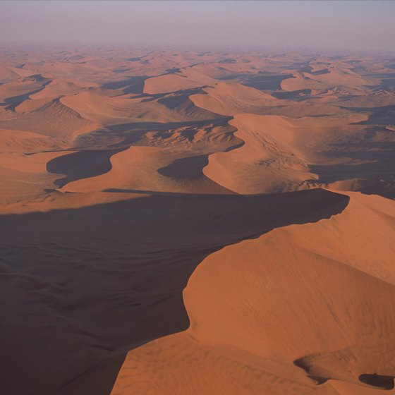 The dunes of the Namib Desert are one of Namibia's most visited landforms.