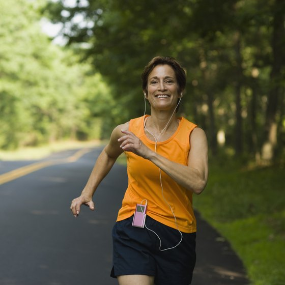 Aerobic exercises such as running are effective ways to lose fat.