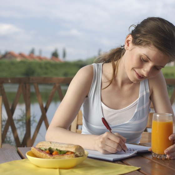 Writing down what you eat in a food diary can help you lose weight.
