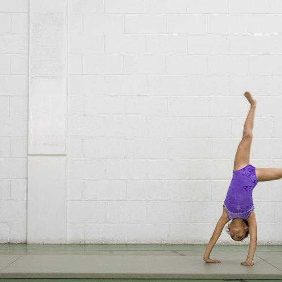 Strong, locked out arms are essential for tumbling.