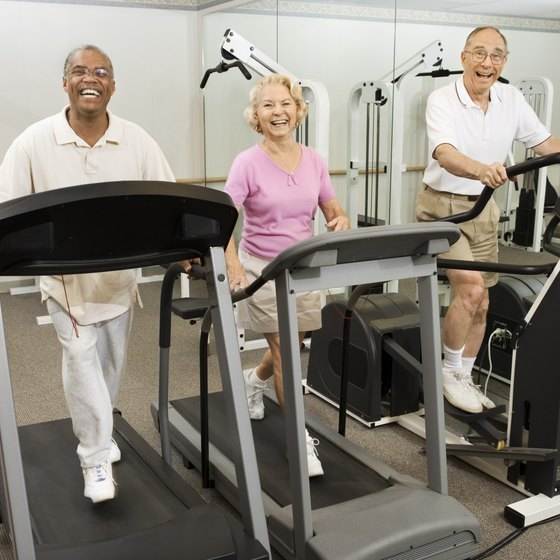 Walking on a treadmill is one way to help firm your body.