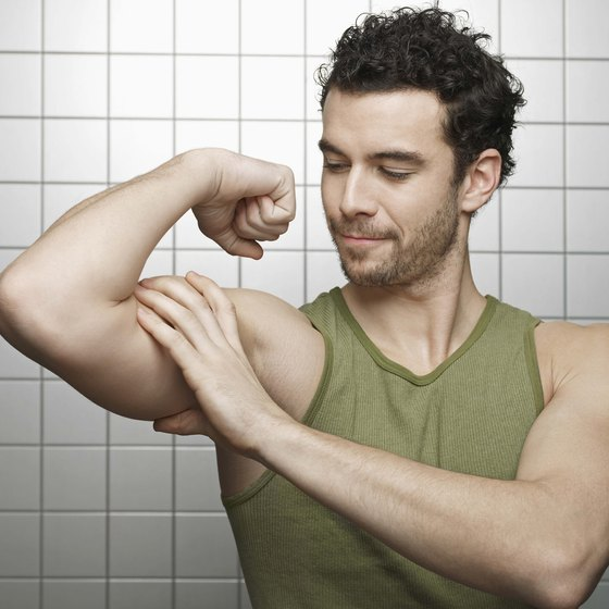 Get big biceps with a combination of arm exercises.