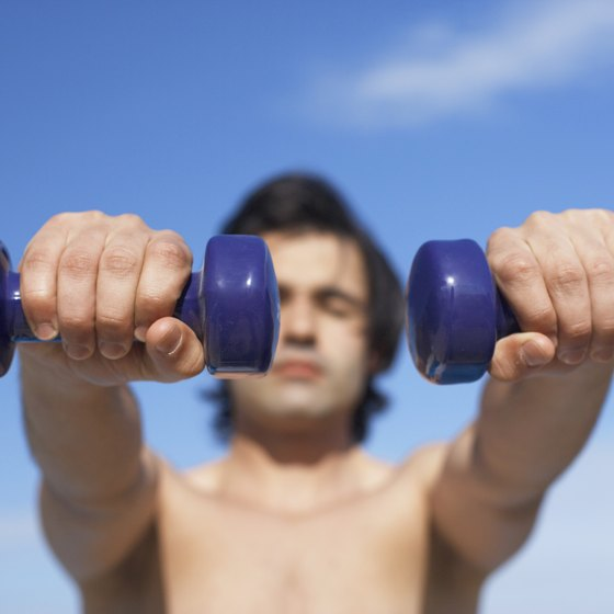 If you are just starting out in weight training, 10-pound dumbbells are a practical choice for workouts.