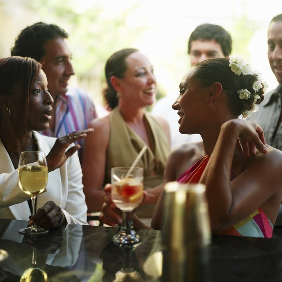 Good food and flowing drinks draw people to promotional events.