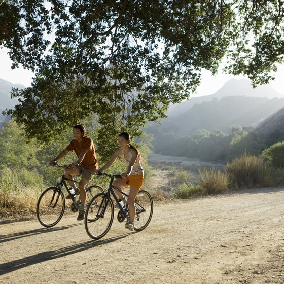 Cycling lets you enjoy the view along with your low-impact workout.