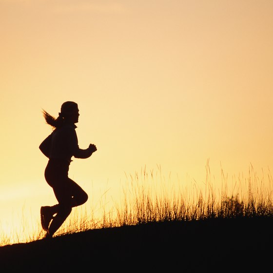 A nighttime run can help relieve stress from the day.