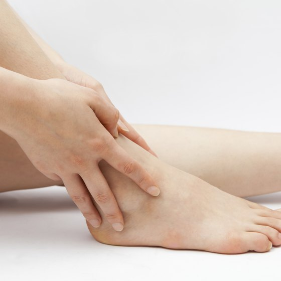 Thick ankles may be caused by a number of factors