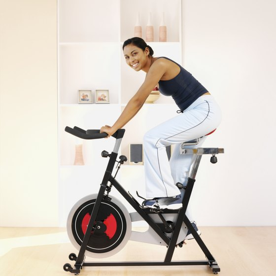 Stationary bike exercise is just one way to lose weight at home.