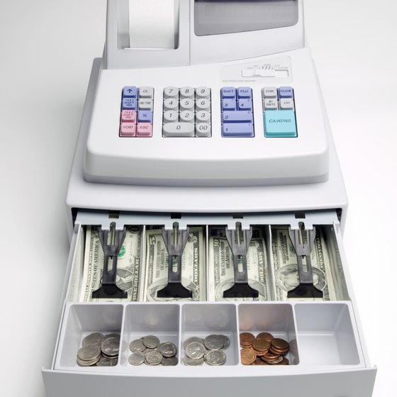 Cash registers can be programmed to track and tax different types of sales at different rates.
