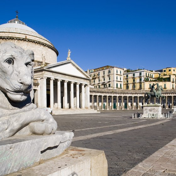 Piazza del Plebiscito is one of Naples' most distinctive areas.