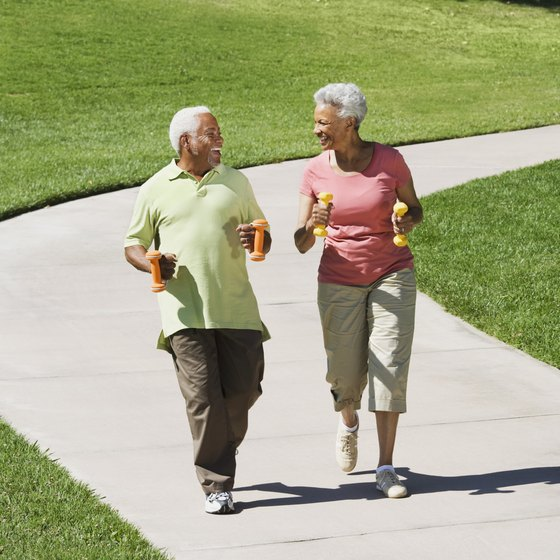 Go for a daily walk to squeeze in some aerobic activity.