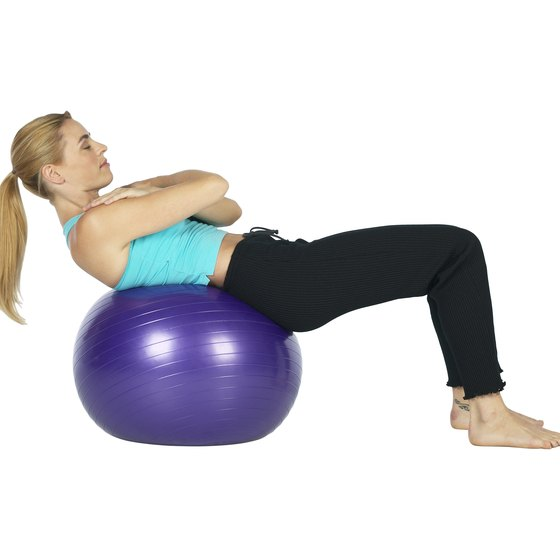 The ball crunch is a safe and effective abdominal exercise.