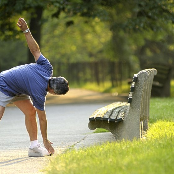 Stretching before you run helps your body warm up and prepare for activity.