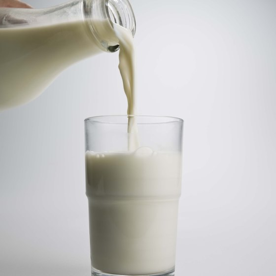 Milk contains calcium and is fortified with vitamin D to help maintain bone health.