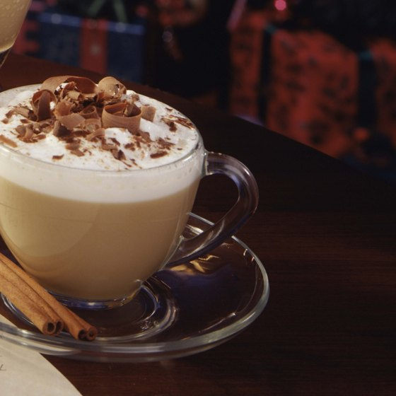 A creamy cup of hot chocolate is an Atkins-friendly dessert choice.