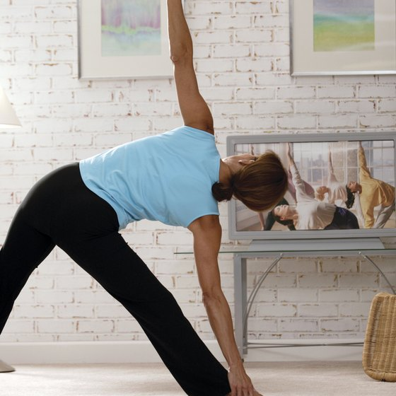 "The ""Yoga X: workout develops strength and flexibility without weights."