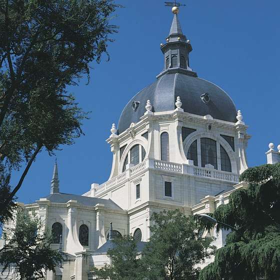 Cathedral domes are intended to mimic the vault of heaven.