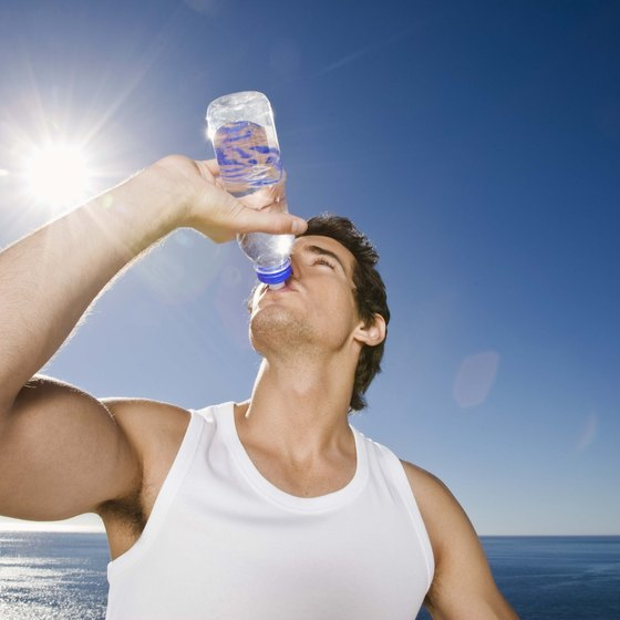 Drink lots of water often to stay hydrated anywhere.