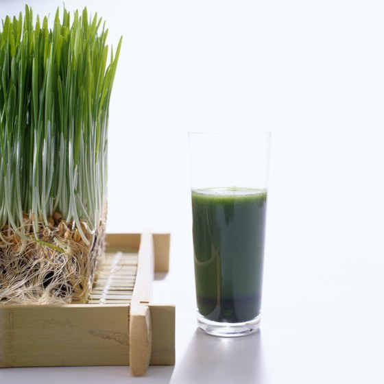 Green juices provide essential vitamins and minerals.