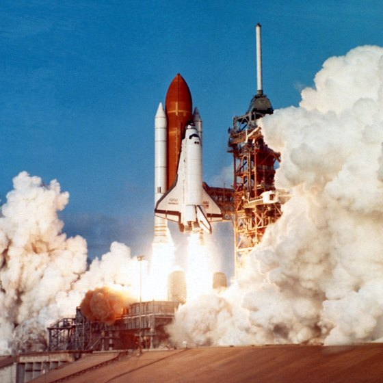 Cape Canaveral's iconic image -- a shuttle launches into space.