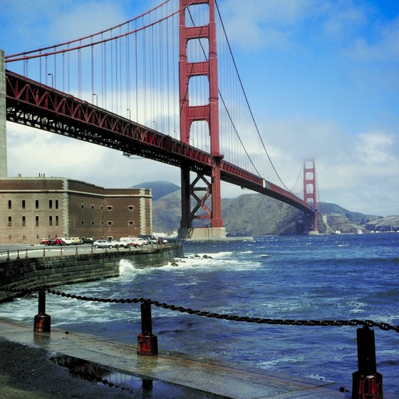 The destination city's most famous landmark is the Golden Gate Bridge.