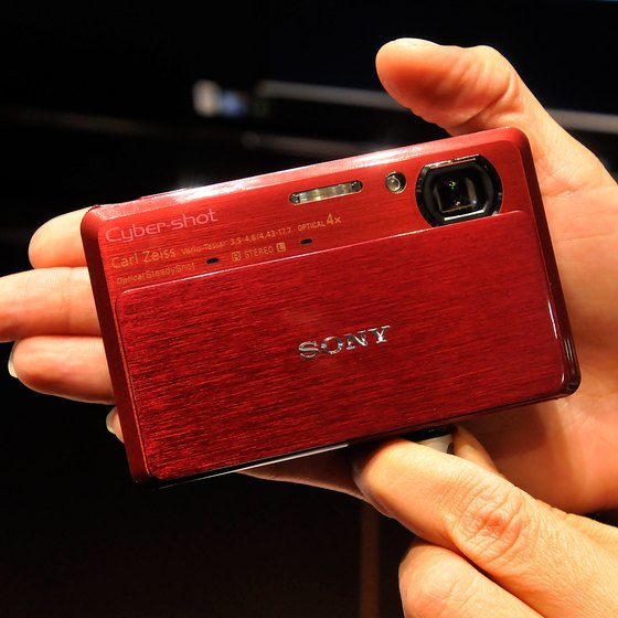 Bluetooth-enabled cameras such as this Sony can print wirelessly on compatible printers.