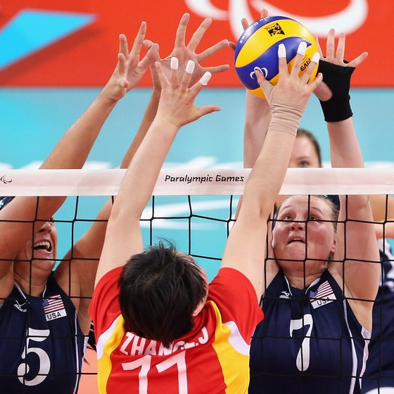 Blocking the ball is an important defensive skill.