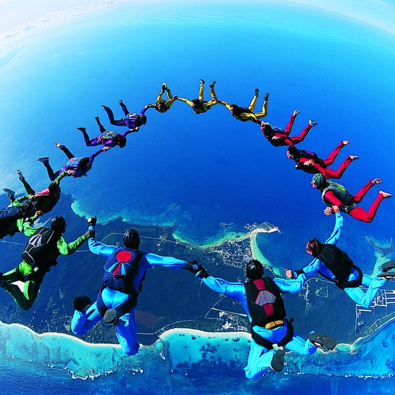 Skydiving is an exciting way to see stunning scenery around the world.