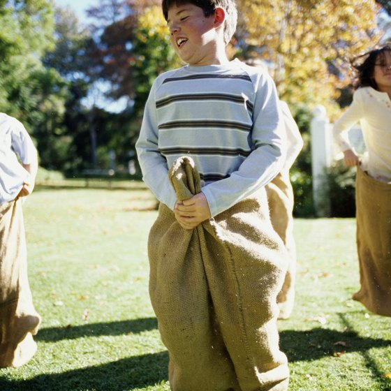 Treat your little spring breakers to traditional games such as potato sack races.