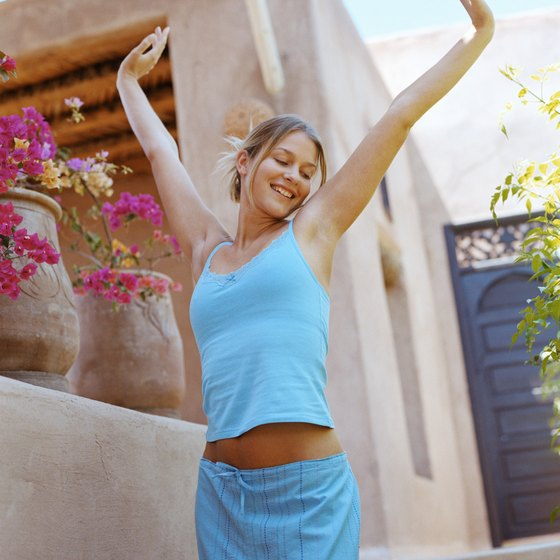 Stretching in the morning loosens muscles and activates endorphins that enhance mood.
