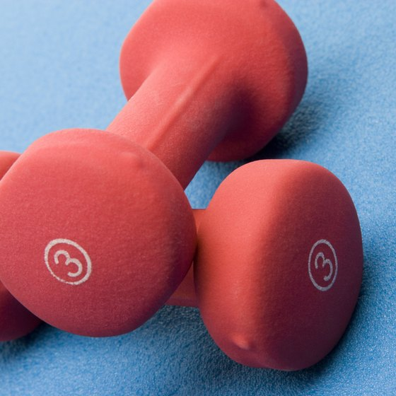 Training with dumbbells can improve your muscle strength.