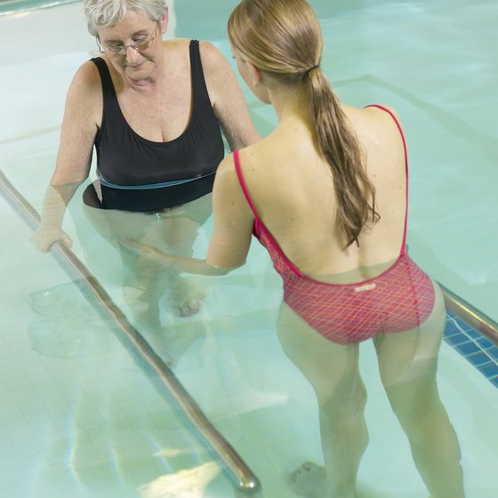 Pool exercises can be used for physical rehabilitation.