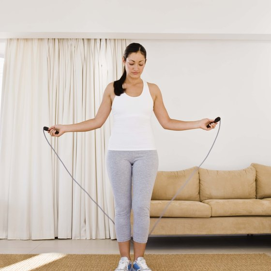 Jumping rope burns 372 calories in 30 minutes for a 155-pound person.
