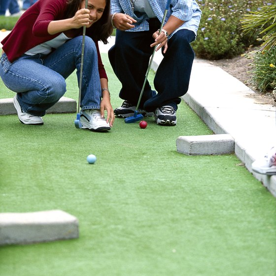 You won't need many lessons to excel at miniature golf.